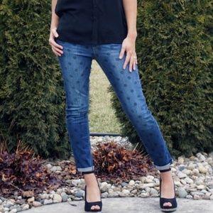 Kensie Jeans Ankle Biter Sz 26 polka dot NWOT